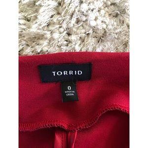 torrid Jackets & Coats - Torrid Red Ponte Knit Moto Blazer Jacket Sz 0 (0X)